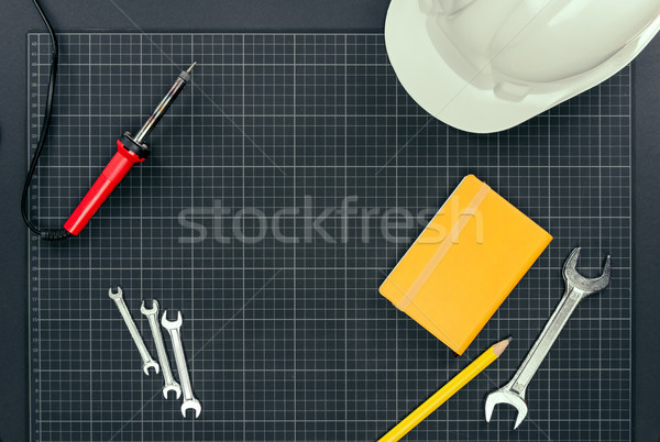 Reparement tools on graph paper  Stock photo © LightFieldStudios