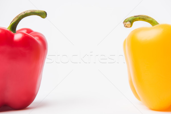 red and yellow bell peppers, on white background   Stock photo © LightFieldStudios