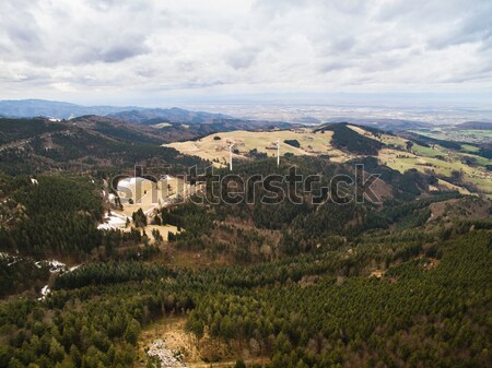 Aerial view of magnificent landscape with hills and forest, Germany Stock photo © LightFieldStudios