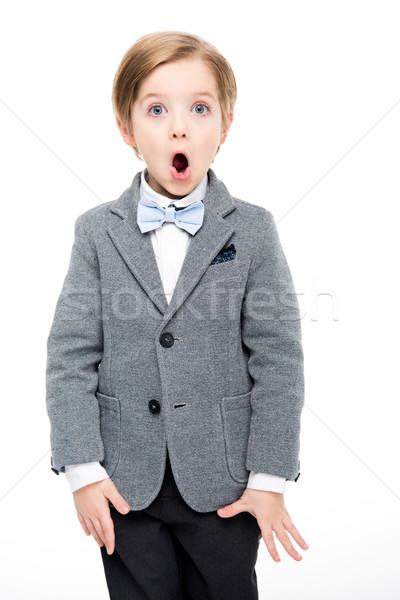 Shocked little boy Stock photo © LightFieldStudios