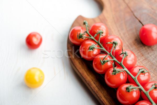 トマト まな板 クローズアップ 表示 新鮮な おいしい ストックフォト © LightFieldStudios