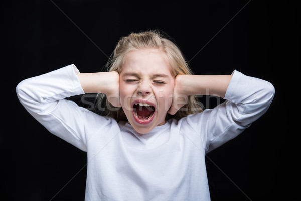 Little girl screaming Stock photo © LightFieldStudios