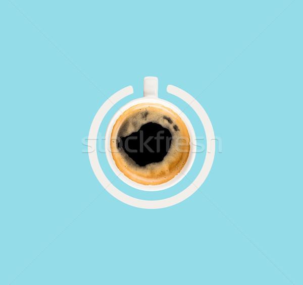 cup of coffee as power button Stock photo © LightFieldStudios