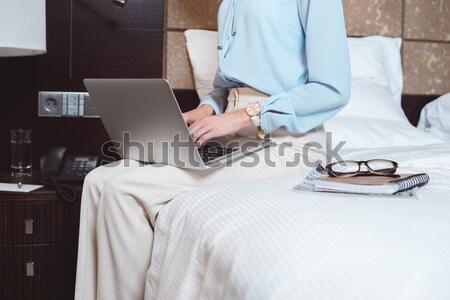 man lying with notebook on face Stock photo © LightFieldStudios