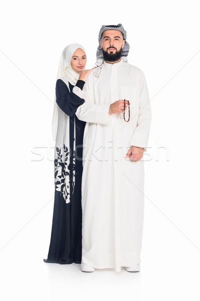 muslim couple embraing Stock photo © LightFieldStudios