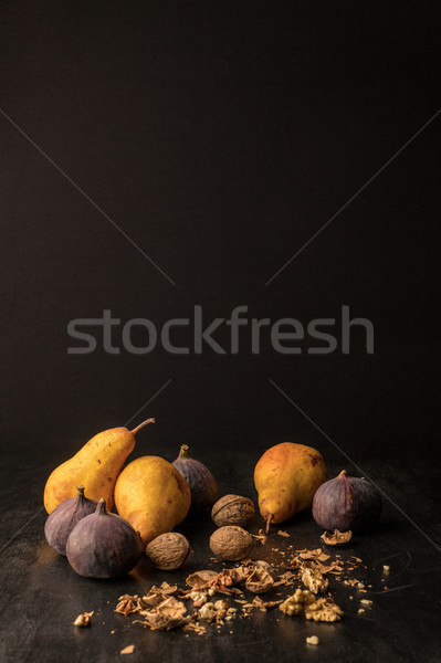 Vruchten stilleven organisch houten tafel exemplaar ruimte Stockfoto © LightFieldStudios
