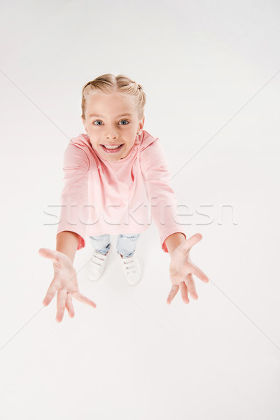 child with arms raised up Stock photo © LightFieldStudios