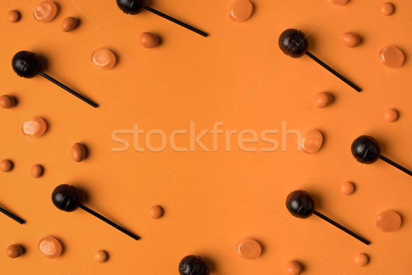 Czarny pomarańczowy widoku słodkie halloween Zdjęcia stock © LightFieldStudios