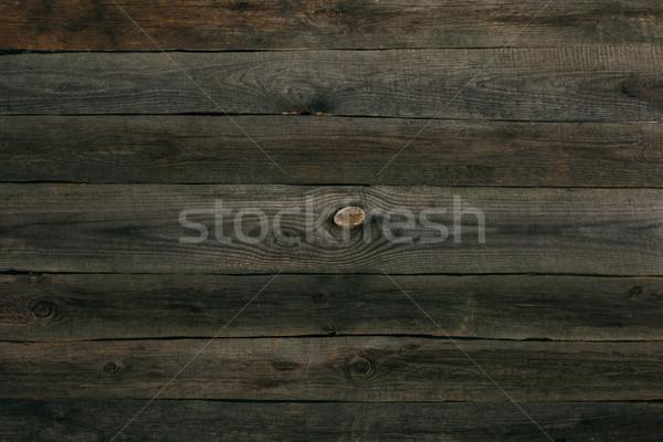 Fából készült deszkák textúra természetes sötét barna Stock fotó © LightFieldStudios