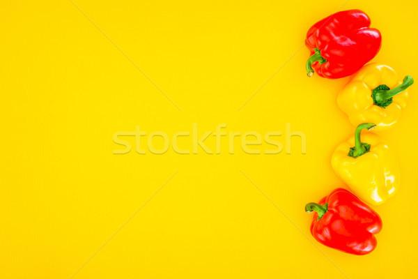 Top vers ruw organisch paprika Stockfoto © LightFieldStudios