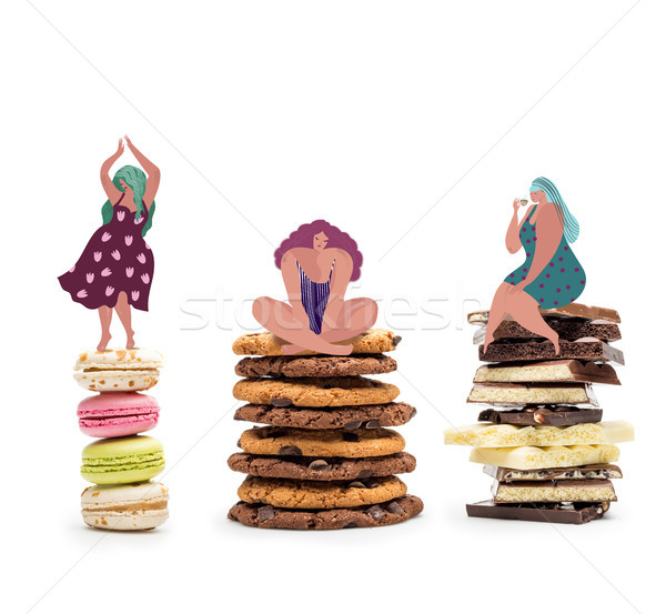 fat women on piles of sweets  Stock photo © LightFieldStudios