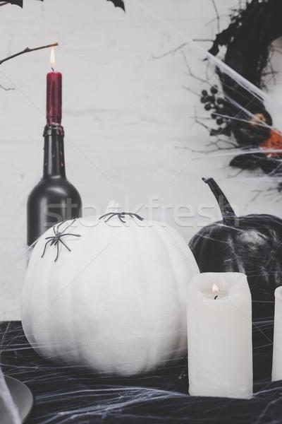 Halloween calabazas primer plano vista ardor Foto stock © LightFieldStudios