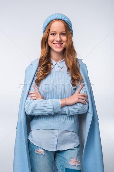 girl in elegant autumn outfit Stock photo © LightFieldStudios