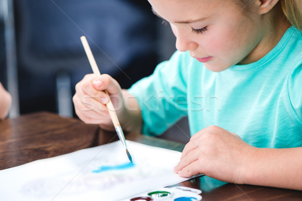 Child drawing picture  Stock photo © LightFieldStudios