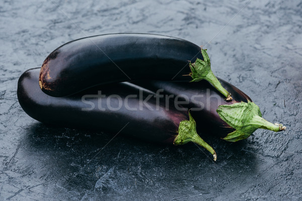 ripe eggplants Stock photo © LightFieldStudios