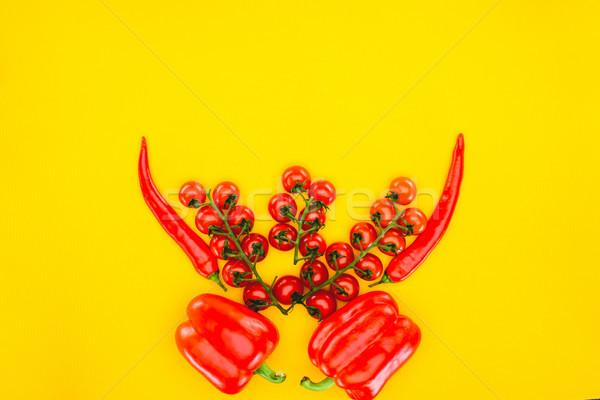 Top мнение свежие красный помидоры черри Сток-фото © LightFieldStudios