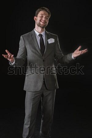 ハンサム 成熟した ビジネスマン 笑みを浮かべて ストックフォト © LightFieldStudios