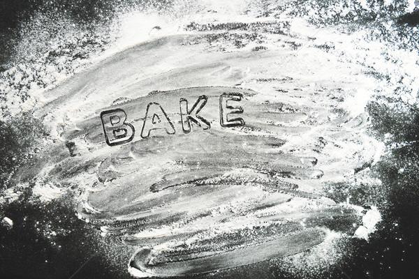 先頭 表示 ステンシル 小麦粉 クッキー ストックフォト © LightFieldStudios