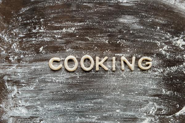 Superior vista palabra cocina cookie harina Foto stock © LightFieldStudios