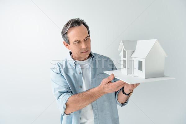 Retrato sério homem maduro casa modelo Foto stock © LightFieldStudios