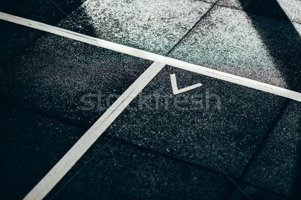 Floor markings at gym Stock photo © LightFieldStudios