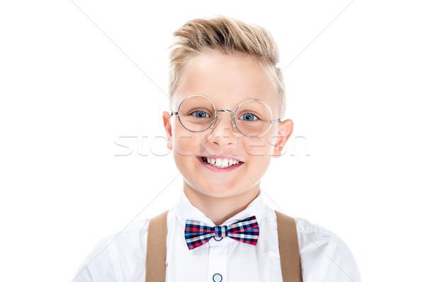 stylish child in eyeglasses Stock photo © LightFieldStudios