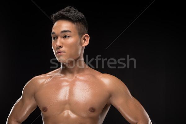 Stock photo: shirtless muscular asian man