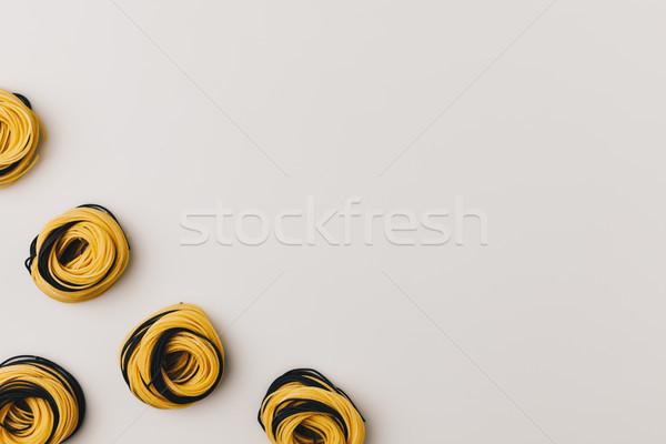 Köşe çerçeve makarna üst görmek gıda Stok fotoğraf © LightFieldStudios