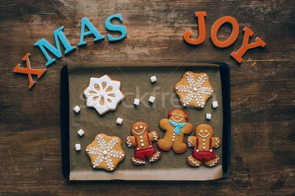 Navidad bandeja superior vista casero Foto stock © LightFieldStudios