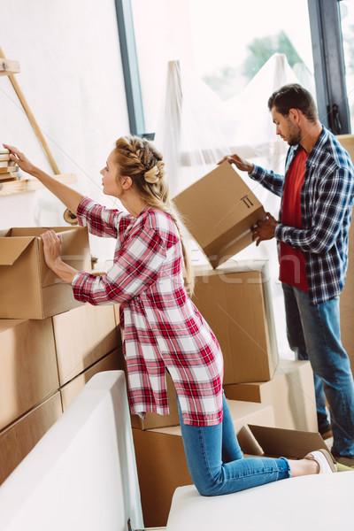 couple moving in new house Stock photo © LightFieldStudios