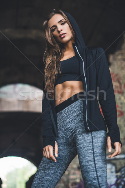 Stock photo: young woman in sportswear