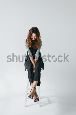Model moda çekici zarif fotoğraf stüdyo Stok fotoğraf © LightFieldStudios