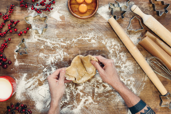 Stockfoto: Peperkoek · christmas · cookies · top · persoon