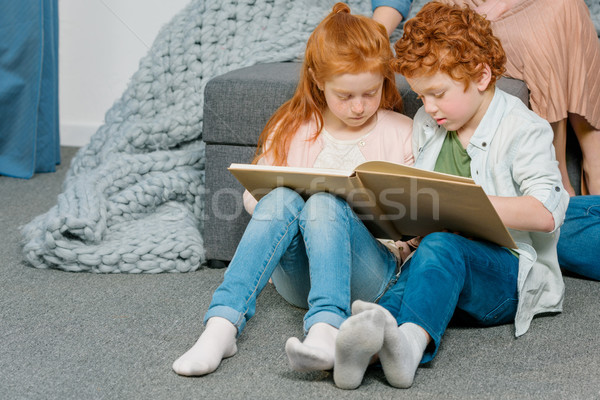 kids reading book Stock photo © LightFieldStudios