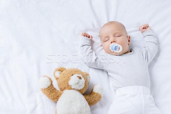 Stock fotó: Alszik · baba · játék · kilátás · aranyos · cumi