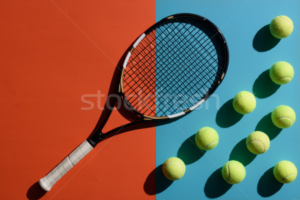 tennis racket and balls Stock photo © LightFieldStudios