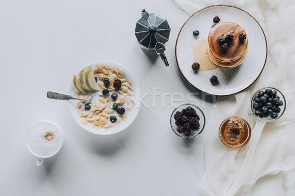 Foto stock: Superior · vista · frescos · saludable · sabroso · desayuno