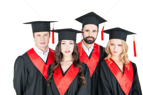 グループ 若い男性 女性 卒業 見える カメラ ストックフォト © LightFieldStudios