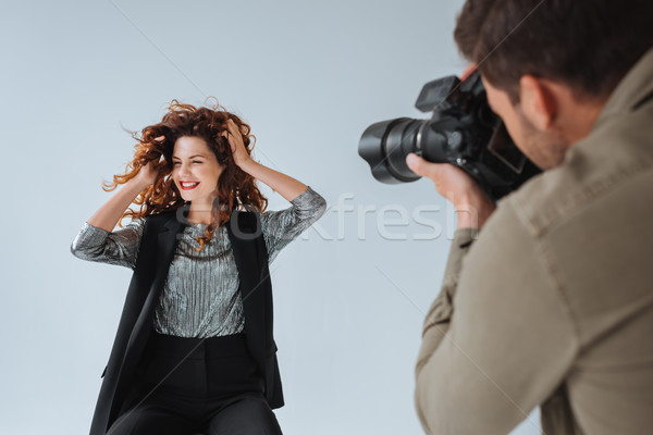 photographer and attractive model  Stock photo © LightFieldStudios