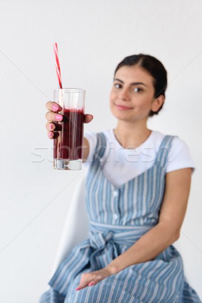woman with detox drink Stock photo © LightFieldStudios