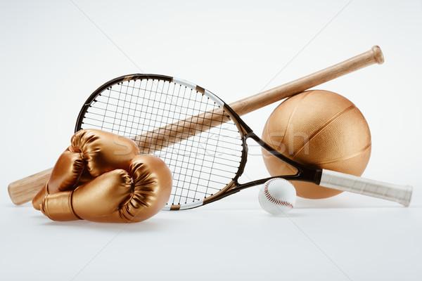 Sportgeräte erschossen unterschiedlich bat Kugeln Stock foto © LightFieldStudios