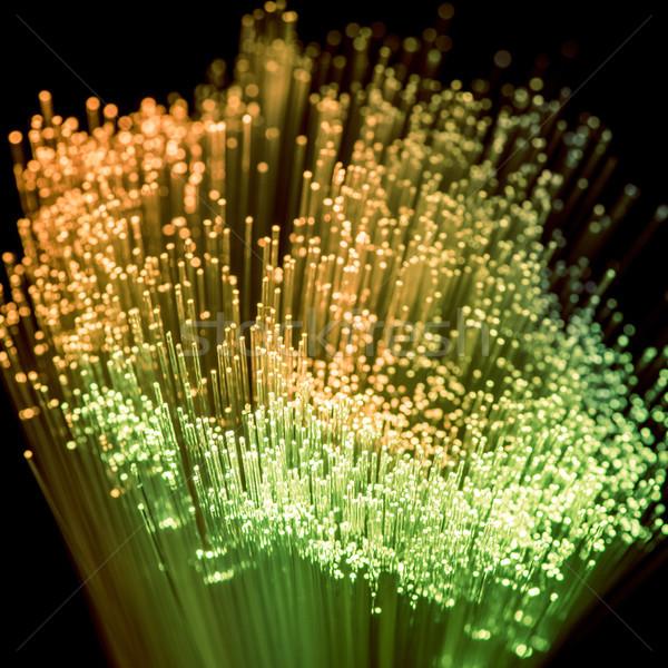 Verde amarillo fibra óptica textura Foto stock © LightFieldStudios