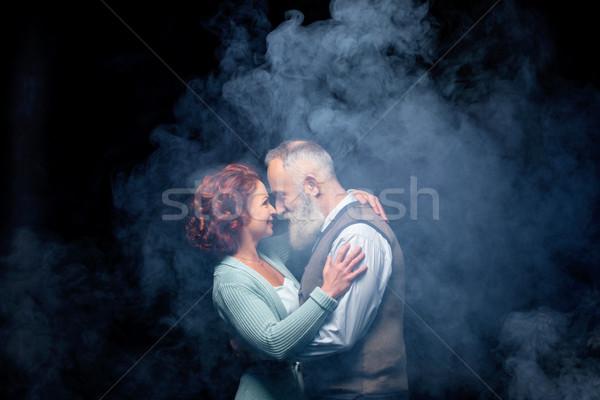 Schönen reifen Paar Liebe schauen Stock foto © LightFieldStudios