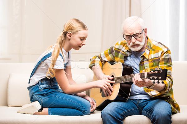 Senior man bril onderwijs cute weinig Stockfoto © LightFieldStudios