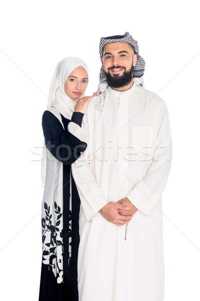 muslim couple in traditional clothing Stock photo © LightFieldStudios