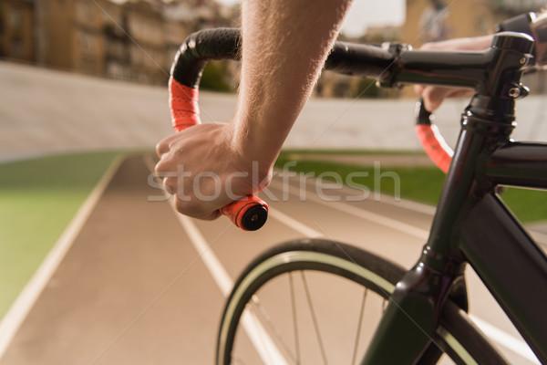 cyclist riding bicycle during race Stock photo © LightFieldStudios