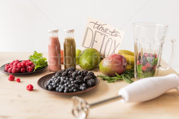 ドリンク 自然食品 選択フォーカス 時間 カード ストックフォト © LightFieldStudios