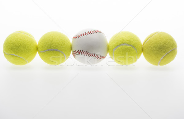 Tennis balls and baseball ball Stock photo © LightFieldStudios