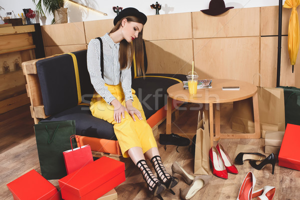 girl choosing heels  Stock photo © LightFieldStudios