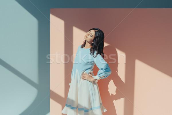 女性 ファッショナブル ドレス 魅力のある女性 立って ストックフォト © LightFieldStudios